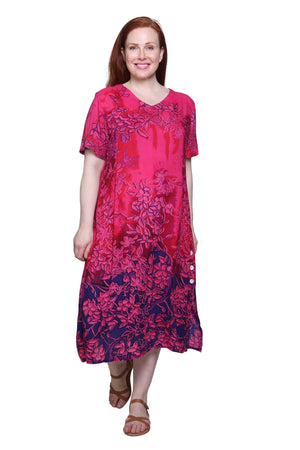 La Cera Plus Size Floral Printed Dress