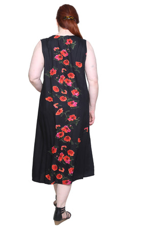 Plus Size La Cera Sleeveless V-Neck Dress