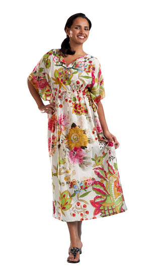 100% Cotton Printed Caftan