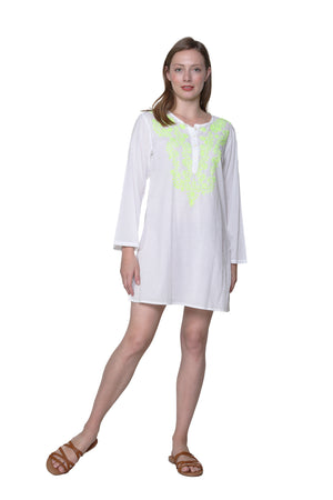 La Cera Embroidered Cover Up