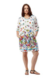 Butterfly Printed Pullover Plus Size Dress