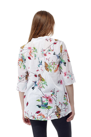 Hummingbird/Butterfly Print Tunic