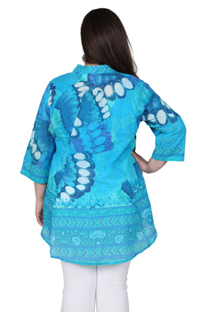 Plus Size Butterfly Wing Flyaway Top
