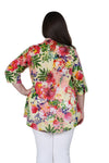 Plus Size Tropical Garden Release Print Tunic