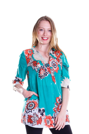 Pop Art Floral Release Print Tunic