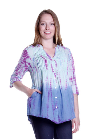 Tie Dye Pleated Tunic