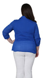 Plus Size Cotton Gauze Camp Shirt