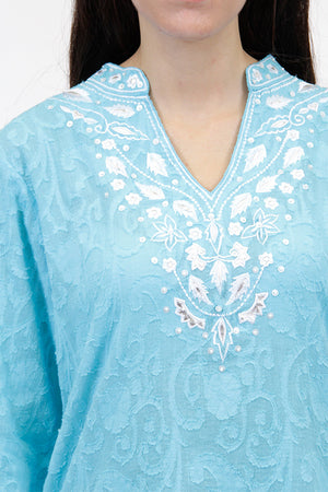 La Cera Floral Embroidered Tunic Top - La Cera™ - 2