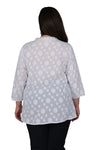 Plus Size Floral Embroidered Tunic Top