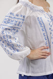 La Cera Hand-Embroidered Peasant Top - La Cera™ - 5