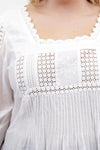 La Cera Plus Size Long Sleeve Lace Detail Top - La Cera™ - 2