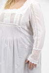 La Cera Plus Size Long Sleeve Lace Detail Top - La Cera™ - 3