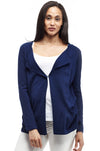 La Cera Long Sleeve Waterfall Cardigan