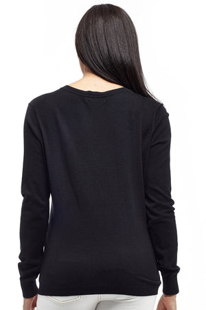La Cera Long Sleeve Cardigan with Pockets