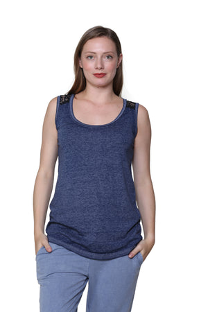 Plus Size Burnout Sleeveless Knit Top