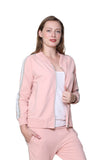 Plus Size French Terry Zip Up Jacket