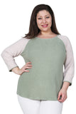 Comfort Collection Plus Size Baseball Tee