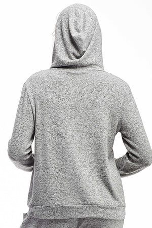 La Cera Zip Front Hooded Top - La Cera™ - 3