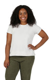 The Comfort Collection Cap Sleeve Plus Size Tee