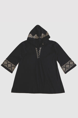 La Cera Embroidered Hooded Tunic - La Cera™ - 5