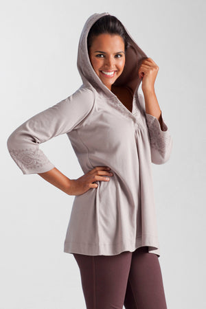 La Cera Embroidered Hooded Tunic - La Cera™ - 2