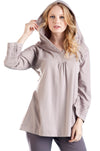 La Cera Embroidered Hooded Tunic