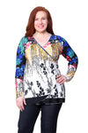 Plus Size La Cera Wrap Tunic