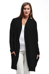 La Cera Shawl Collar Long Cardigan - La Cera'Ñ¢ - 8