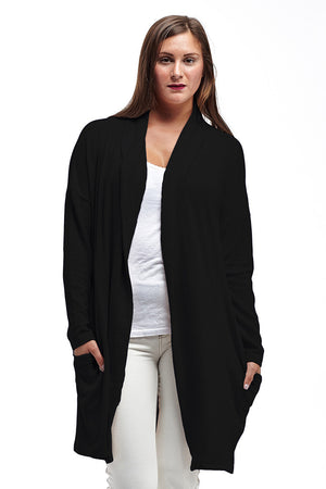 La Cera Shawl Collar Long Cardigan - La Cera™ - 8