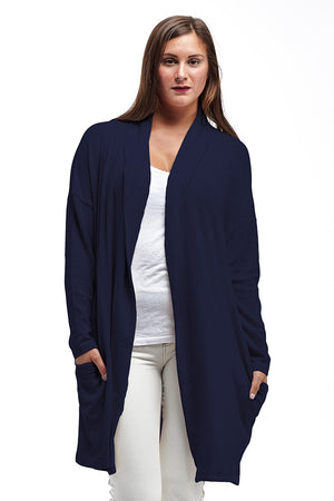 La Cera Shawl Collar Long Cardigan - La Cera™ - 7