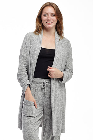 La Cera Shawl Collar Long Cardigan - La Cera'Ñ¢ - 5