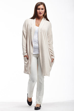 La Cera Shawl Collar Long Cardigan - La Cera™ - 2