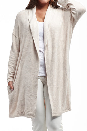 La Cera Shawl Collar Long Cardigan - La Cera'Ñ¢ - 3