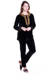 Gold Leaf Velour Plus Size Top