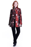 Sequined Floral Embroidered Coat
