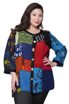 Plus Size La Cera Red Patchwork Top