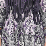 Plus Size La Cera Empire Paisley Print Tunic