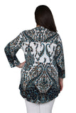 Plus Size La Cera Pleat Front Paisley Tunic