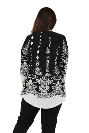Plus Size La Cera Pleat Front Printed Tunic