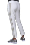 Plus Size French Terry Pant with Lurex Tuxedo Stripe Trim