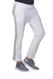 French Terry Pant with Lurex Tuxedo Stripe Trim