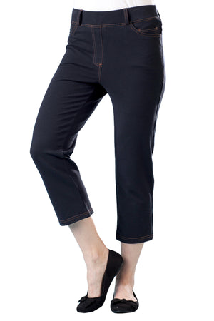 La Cera Stretch Knit Cropped Pant