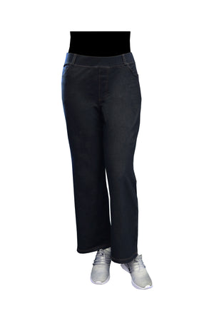 La Cera Plus Size Stretch Knit Wide Leg Pant