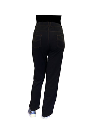 La Cera Plus Size Stretch Knit Boot Cut Pant