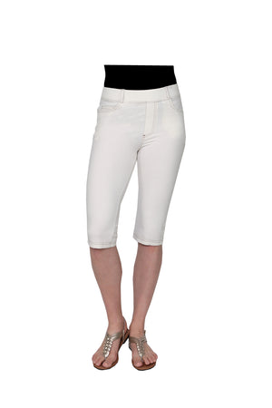 La Cera Stretch Knit Capri