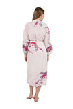 Printed Long Sleeve Rayon Robe