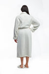 La Cera Textured Full Length Bath Robe