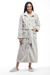 La Cera Belted Full Length Fleece Robe - La Cera™ - 1