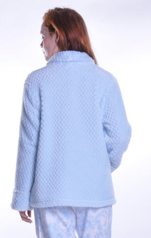 Plus Size Honeycomb Fleece Bed Jacket