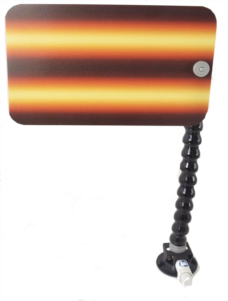 "3D-Amber Fire 12"" Board with Loc-Line and Suction Cup (3D-AFB-12-SC) (Made in USA)"